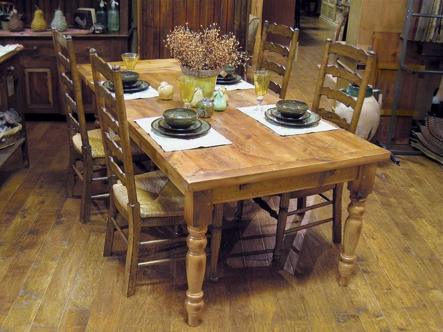 Country Willow Barn Wood Extension Farm Table Many Sizes - Salvaged wood farmhouse table