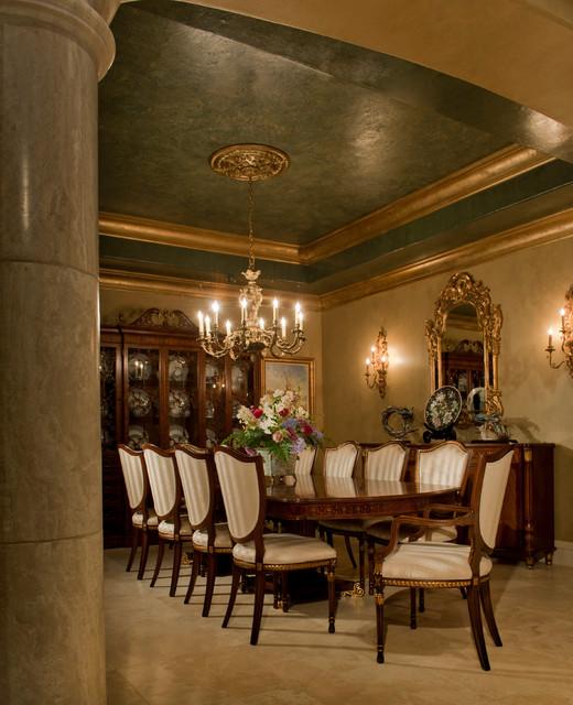 Lovely Courtyard Villa Mediterranean Dining Room