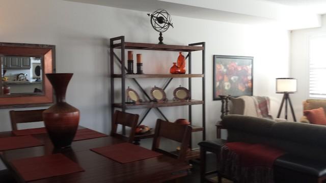 Dining room - rustic dining room idea in Toronto