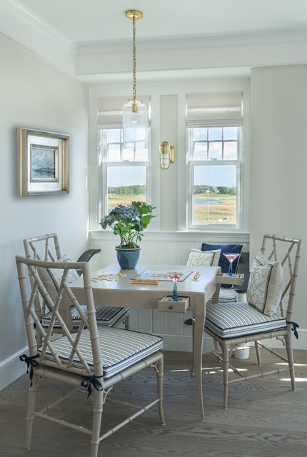 Cozy Casual Dining With View Beach Style Dining Room Boston By