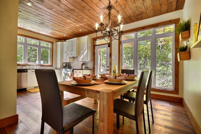 Miraculous Cozy Cottage Rustic Dining Room Montreal By Melyssa Robert Inspirational Interior Design Netriciaus