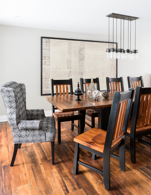 Cozy Country Reno Transitional Dining Room Toronto