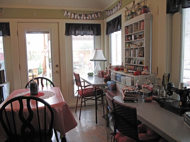 Cozy Sewing Space eclectic-dining-room