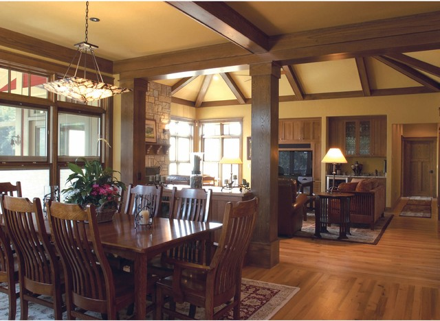 craftsman cottage on the pond traditional dining room milwaukee