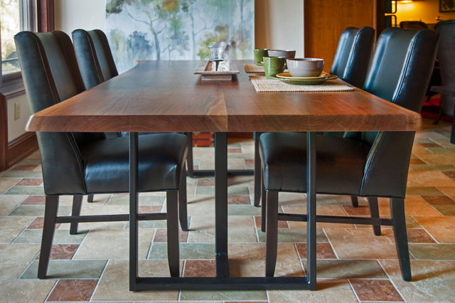 craftsman live edge table in upper arlington oh contemporary dining