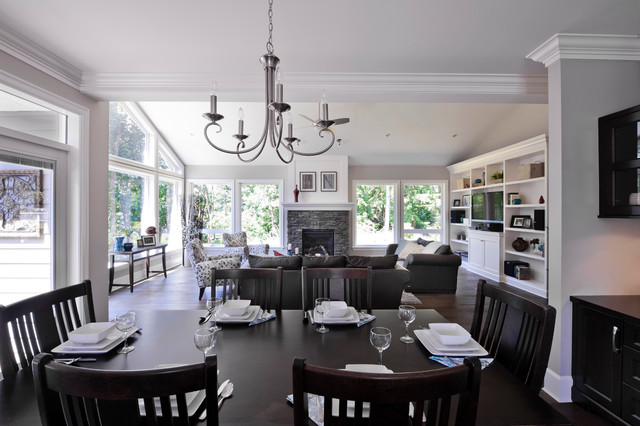 Craftsman Style Custom Home Traditional Dining Room Vancouver By Kenorah Design