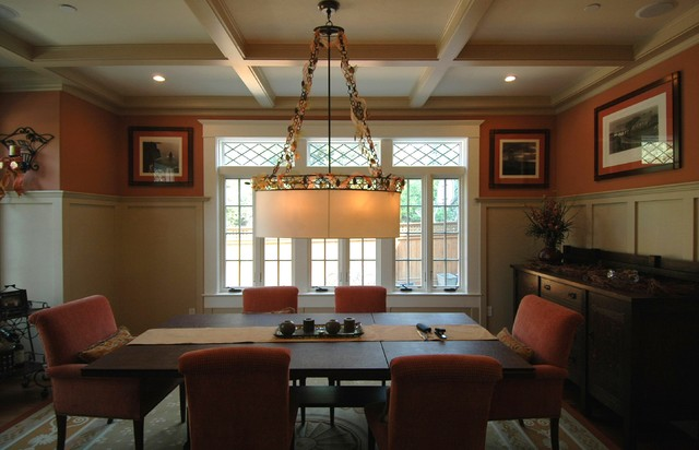 Craftsman Style In Burlingame Dining Room Craftsman Dining Room Part 16