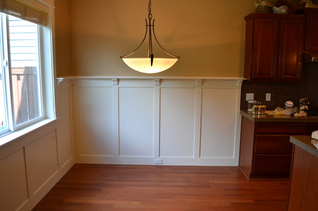 Craftsman Wainscot Arts And Crafts Dining Room