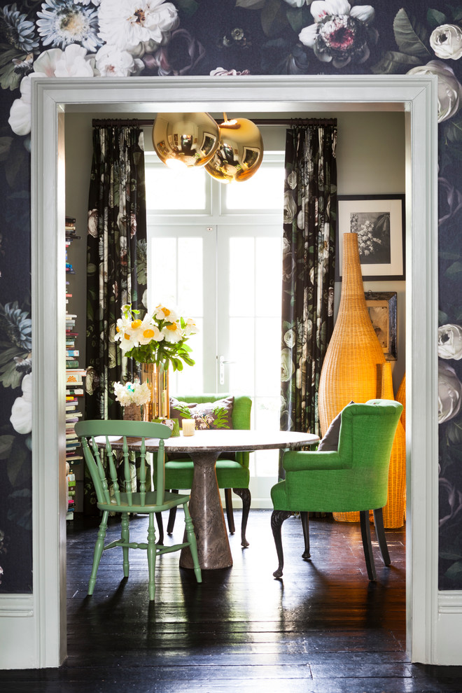 Inspiration for an eclectic dining room remodel in London