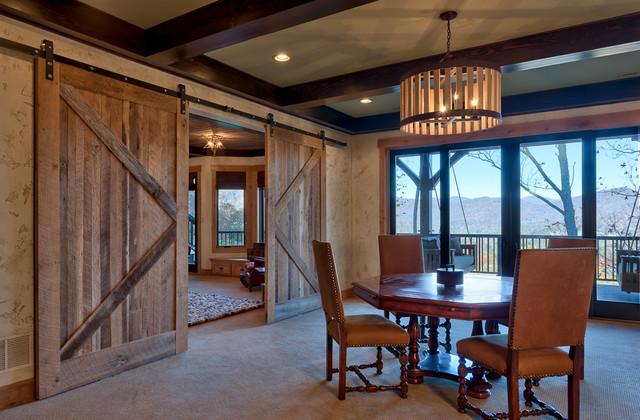Creek Hollow Castle rustic-dining-room