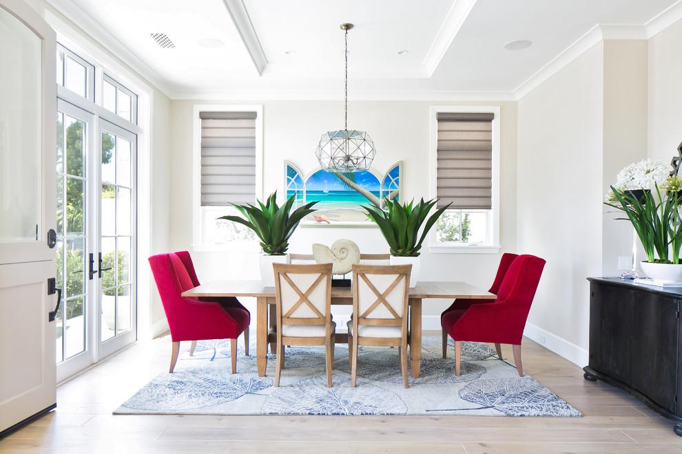 Dining room - coastal dining room idea in Orange County