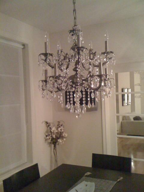 crystal chandelier full brass