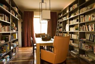 Multi purpose dining room. Contemporary dining room by Laguna Beach Interior Designers & Decorators.