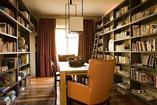 High Quality A Blank Or Boring Wall In Your Family Or Living Room Can Easily Be  Transformed Into A Library Like Space. Add A Ladder For Extra Charm And  Appeal.