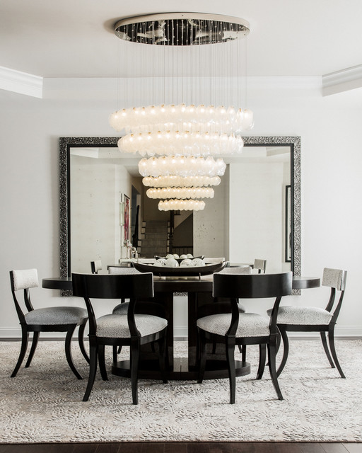 Glass Dining Room: Custom Blown Glass Dining Room Chandelier