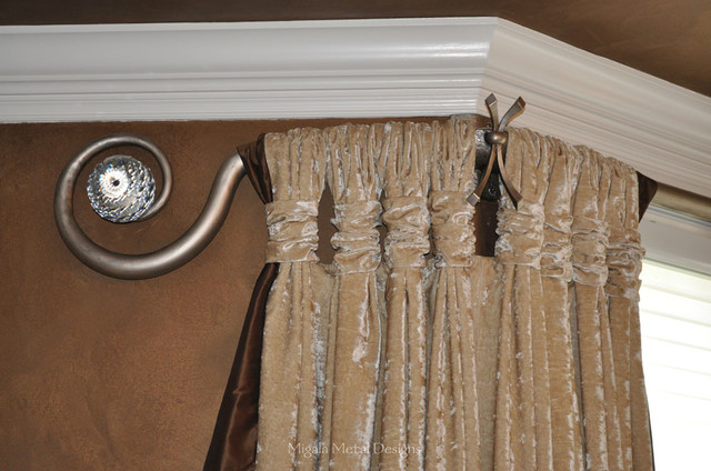Curtain Rods Eclectic Dining Room Chicago By