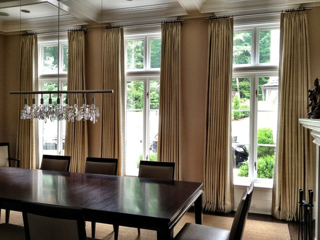 Curtains Contemporary Dining Room