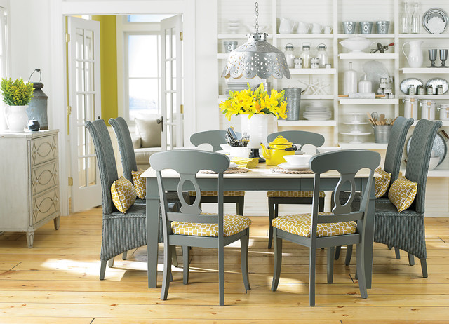"""Custom 40"""" Gathering Dining Table by Bassett Furniture contemporary-dining-room"""
