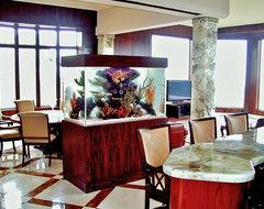 Custom Aquarium Designs by www.aquatic-perfection.com dining-room