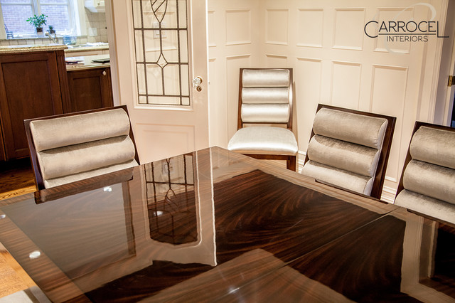 Custom Art Deco Mahogany Dining Table With Colina Art Deco Dining Chairs  モダン ダイニング