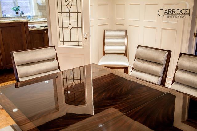 Custom Art Deco Mahogany Dining Table With Colina