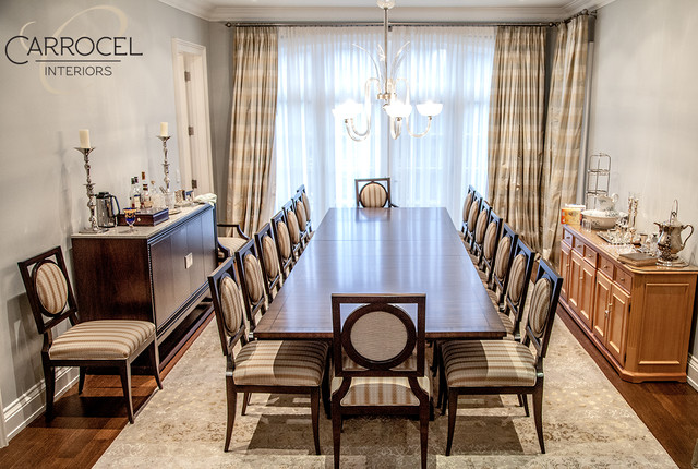 Custom Art Deco Mahogany Dining Table With Square Back Chairs Traditional Room Toronto By Carrocel Interiors