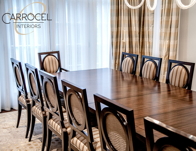custom art deco mahogany dining table with square back chairs art deco dining room