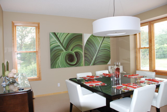 Custom Artwork modern dining room