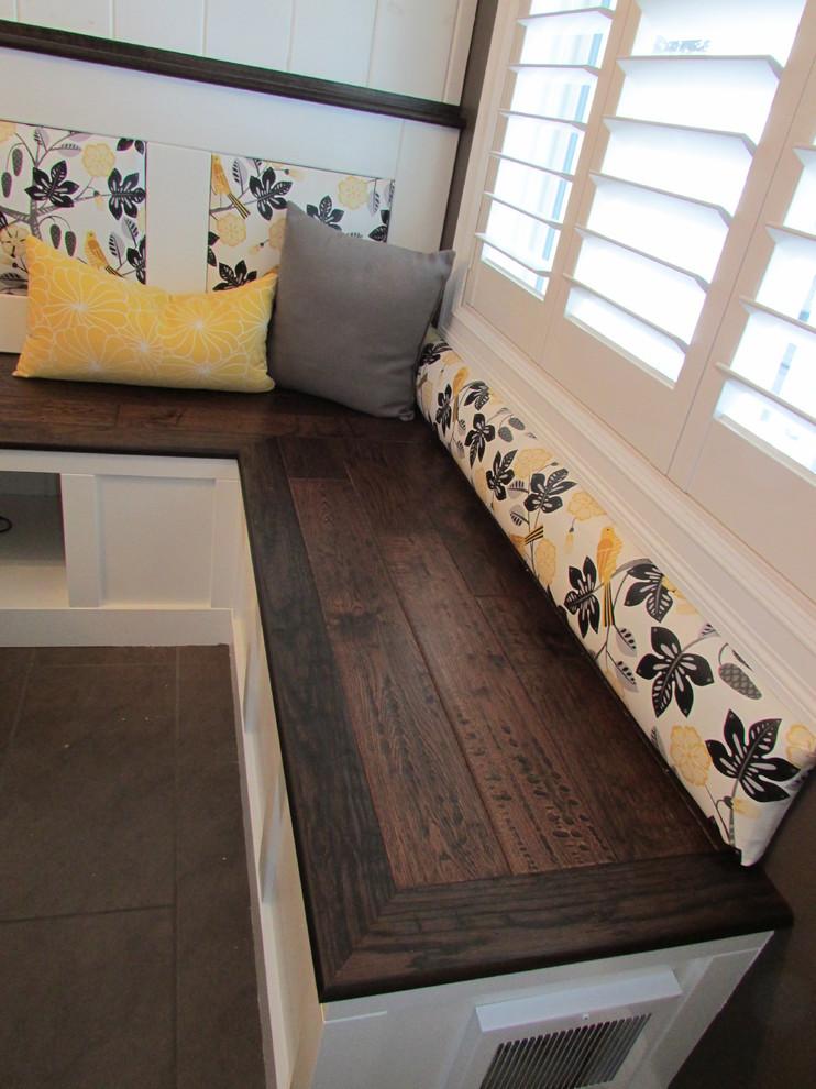 Custom Bench Seat For Kitchen Nook Modern Dining Room Edmonton By Bredesign Houzz