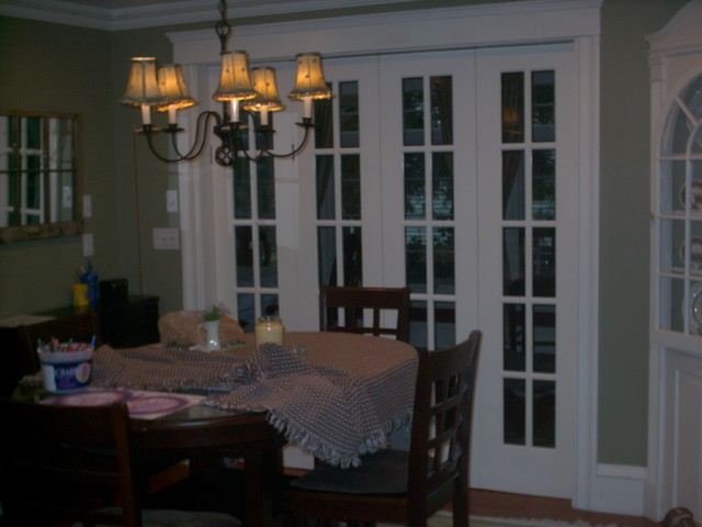 Custom Bi Fold French Doors Traditional Dining Room