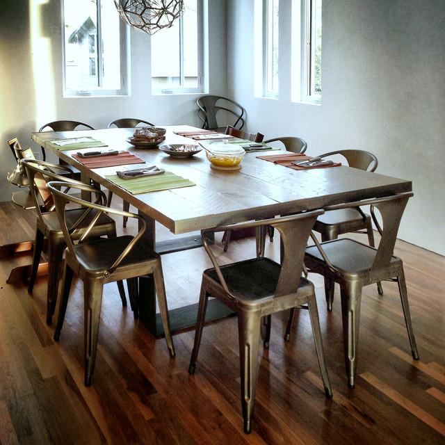 Custom Built 5x8u0027 Dining Table Utilizing Reclaimed Barn Wood Planks  Contemporary Dining Room