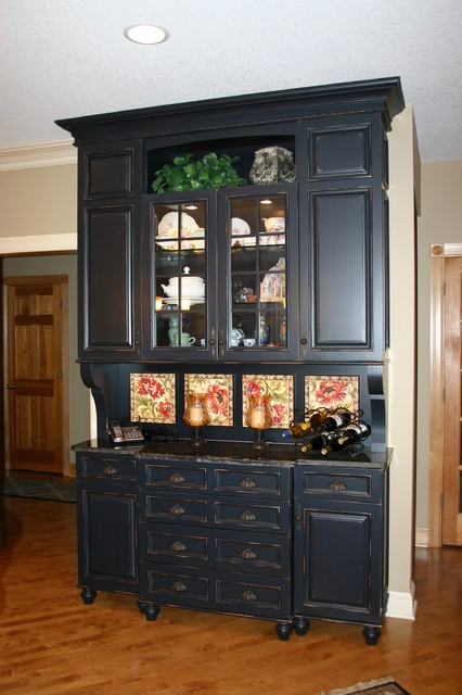 Custom Built In Buffet Traditional Dining Room