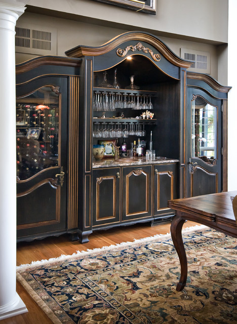 Custom Built-In Wine Cabinet - Traditional - Dining Room ...