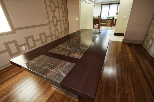 Custom designed dining room table contemporary dining for Custom dining room tables