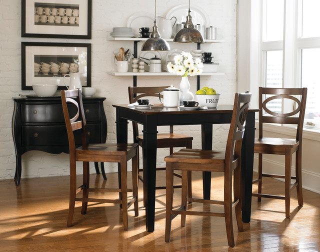 Custom Dining 38 Square Table By Bassett Furniture Contemporary Room