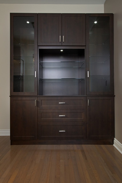 Custom dining room display cabinet modern dining room for Dining room display cabinets