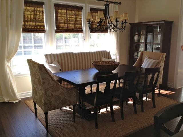 Custom dining set traditional dining room los for Dining room table with couch