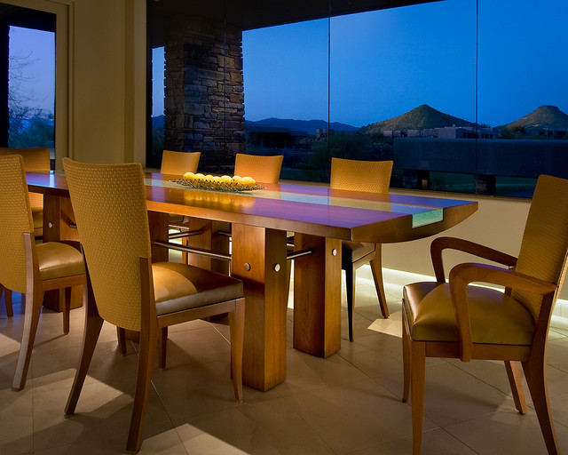 Custom Dining Table Contemporary Dining Room Phoenix