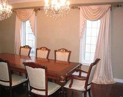 Custom Drapery traditional-dining-room