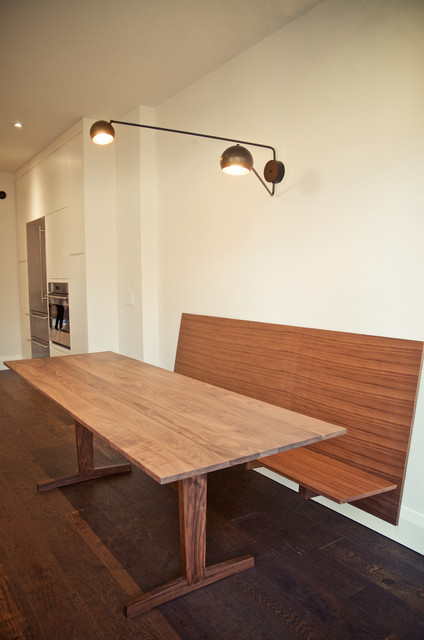 Custom Floating Bench And Dining Tablemodern Room Toronto