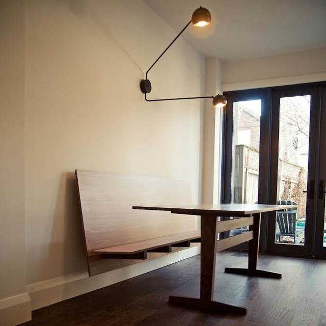 Custom Floating Bench And Dining Table Modern Room