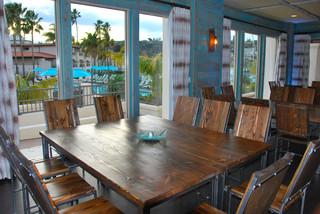 custom furniture beach style dining room san diego by bottles