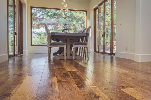 Custom Hand Scraped Hickory Floor In Cupertino California Traditional