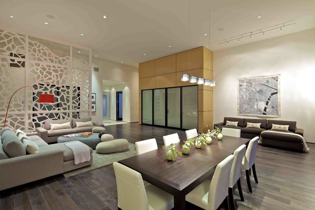 Custom Home Contemporary Dining Room
