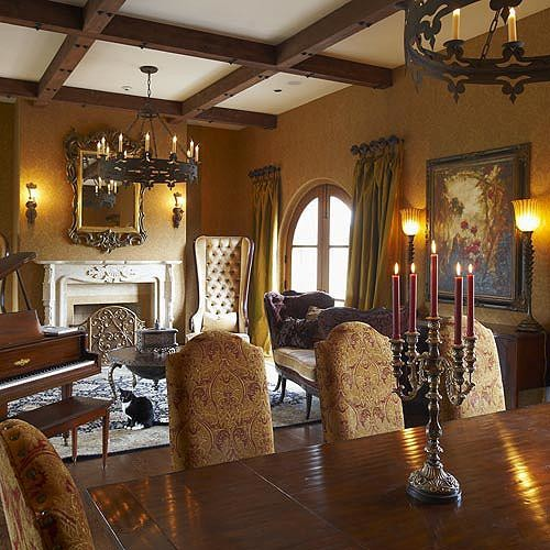Old World French County Chateau In Lexington Traditional Dining Room
