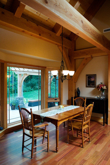 Custom Home - Timber Frame Dream contemporary-dining-room