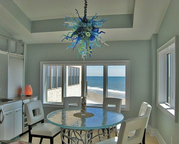 Custom laguna mist chandelier myrtle beach sc installation custom laguna mist chandelier myrtle beach sc installation beach style dining mozeypictures Image collections
