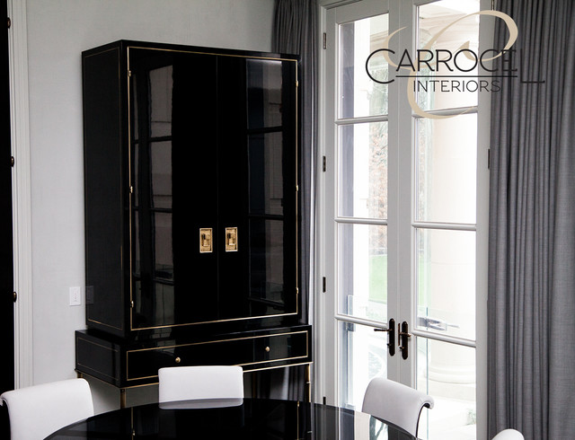 Custom Made Art Deco Black Lacquer Cabinet - Contemporary - Dining Room - toronto - by Carrocel ...