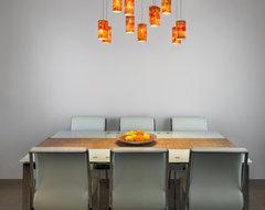 Custom-Made Fused Glass Lighting - Galillee contemporary-dining-room