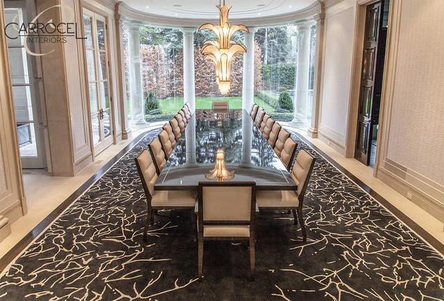 Custom Made Makassar Ebony Art Deco Style Grand Dining Table - Modern - Dining Room - toronto ...